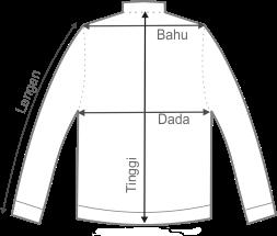 size jaket kulit slimfit